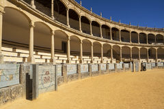 Bullring in Ronda, Spain. Thought to be the Oldest Bullring in The World Royalty Free Stock Photo