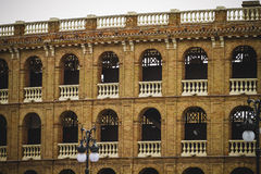 Bullring, tipical architecture of the Spanish city of Valencia Stock Image