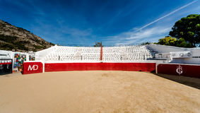 Bullring in white village of Mijas Stock Images