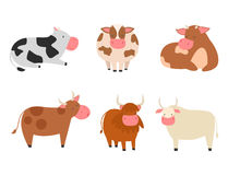 Free Bulls Cows Farm Animal Character Vector Illustration Cattle Mammal Nature Wild Beef Agriculture. Stock Images - 92158704