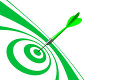 Bulls Eye Green Dart Royalty Free Stock Photography