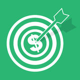 Bulls Eye Money Stock Photography