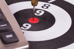 Bulls eye target Royalty Free Stock Photos