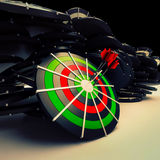 Bulls eye Target Dart Shows Successful Business Performance Royalty Free Stock Photos