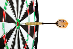 Bulls eye target with dart. On white background Stock Photography