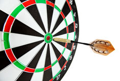 Bulls eye target with dart Stock Image