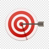 Bulls eye target icon, cartoon style stock illustration