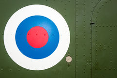 Bulls Eye target on military helicopter Royalty Free Stock Images