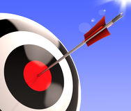 Bulls eye Target Shows Excellence And Skill Royalty Free Stock Photo