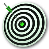 Bulls eye Target Shows Perfect Accuracy And Focus Royalty Free Stock Photo