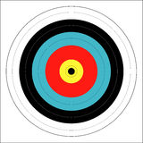 Bulls Eye. A typical bulls eye target isolated on a white background stock illustration
