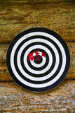 Bulls eye for whole team Stock Image