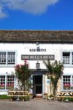 Bulls Head Pub, Ashford-in-the-Water. Stock Image