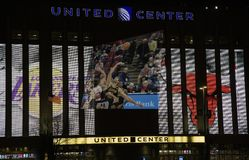 Bulls and Lakers Basketball at the United Center inChicago Stock Photos