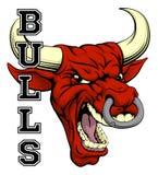 Bulls Sports Mascot Royalty Free Stock Image