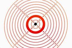 bullseye χτυπώντας Στοκ Φωτογραφία
