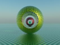 Bullseye. Surreal bullseye viewed through concentric, holed spheres Royalty Free Stock Images