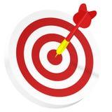 In bullseye vector illustratie