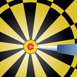 bullseye royaltyfri illustrationer