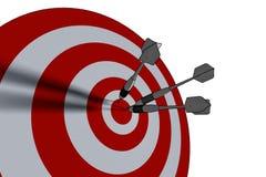 Bullseye royalty-vrije illustratie
