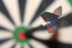 BullsEye. A Dart on the Bord Royalty Free Stock Photography