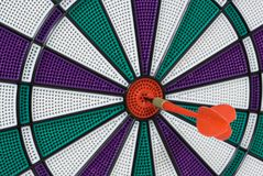 Bullseye. Dartboard with dart in center (bullseye Royalty Free Stock Images