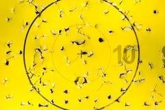 Bullseye of archery target with arrow holes Stock Image