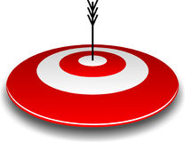 Bullseye and Arrow Royalty Free Stock Photos
