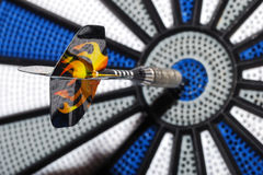 Bullseye with arrow great view Stock Photo