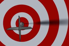 Bullseye - bedrijfsconcept royalty-vrije illustratie