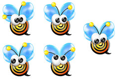 Bullseye Bee Front Looking Sheet Stock Image