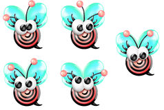 Bullseye Bee Girl Front Looking Sheet Royalty Free Stock Photography