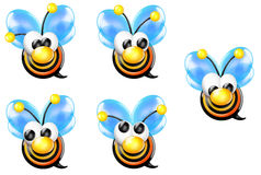 Bullseye Bee with Nose Front Looking Sheet Stock Photo