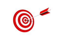 Bullseye - business concept Stock Photos