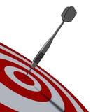Bullseye - business concept Stock Photos