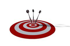 Bullseye - business concept. 3d illustration Royalty Free Stock Photography