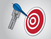 Bullseye Businessman Royalty Free Stock Photo