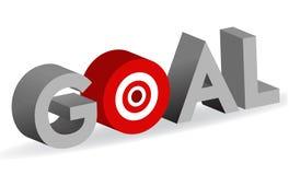 bullseye celu znaka celu słowo ilustracji