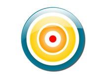 Bullseye colorato Fotografie Stock