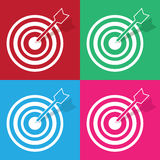 Bullseye Colors Stock Photo