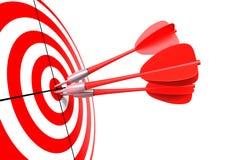 Bullseye com dardos Fotos de Stock