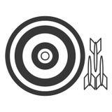 Bullseye com dardos fotografia de stock royalty free