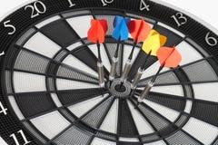 Bullseye con le frecce Fotografia Stock