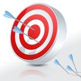 Bullseye 3D Fotografia de Stock