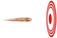 Bullseye da bala Imagem de Stock Royalty Free