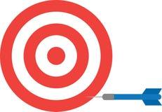 Bullseye with dart Stock Photos