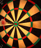 Bullseye darts Stock Images