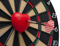 Bullseye del cuore Fotografie Stock Libere da Diritti