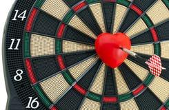 Bullseye do coração Fotografia de Stock Royalty Free