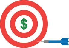 Bullseye with dollar and dart Stock Photo